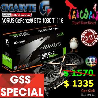 Gigabyte AORUS  GTX 1080 Ti 11G GeForce®.  ( Till.. 30 June 2018 Offer  Ends...)