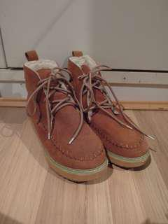 Fluffy Brown Winter Boots