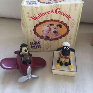 Wallace and Gromit collection 3 different poses