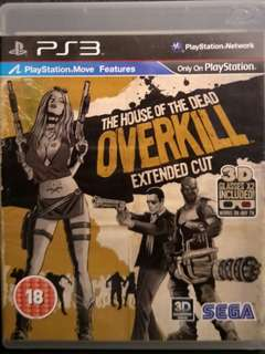 PS3 The House Of Dead Overkill Extended Cut (Move Edition)
