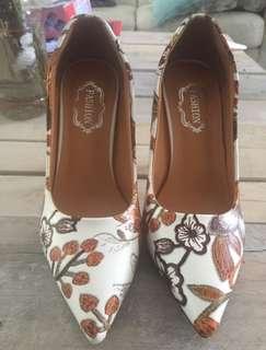 MCCKLE Wo High men Pumps Heel Shoes Pointed Flower Pattern Sexy High Heel Female Heels Ladies Dress Shoes Stilettos