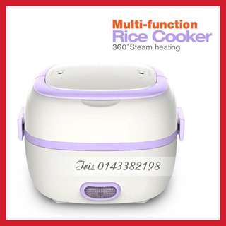 (MALAYSIA PLUG) Electric Lunch Box Mini Rice Cooker Steamer Heating Meal