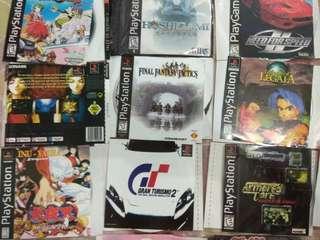 CD Game PS1. Total 31 jenis game.