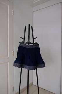 Cute Navy Ruffle Skirt