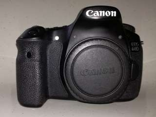 canon 60d with 50mm 1.8 lens II & accessories