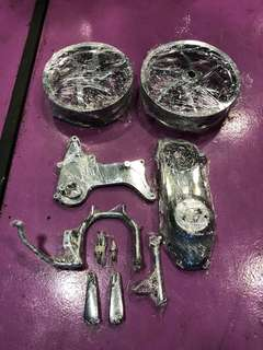 Gilera chrome parts