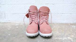 Timberland 6-inch Nubuck Boots in Pink and White