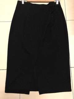 Dorothy Perkins Black midi skirt