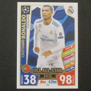 17/18 Match Attax Champions League UCL All-Star XI - Cristiano RONALDO