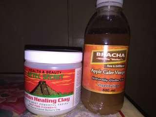 AZTEC HEALING CLAY MASK W/ BRACHA APPLE CIDER VINEGAR