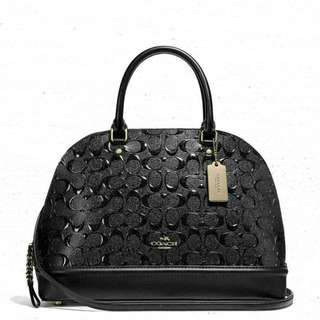 AUTHENTIC COACH SEIRRA EMBOSSED (F27598) WITH PATERNLEATHER
