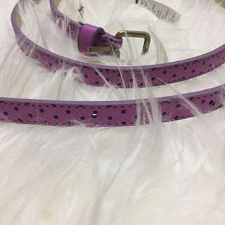 Polka dots purple belt
