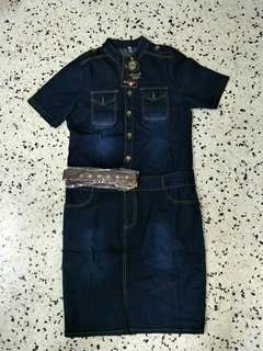 Jean dress (brand new)