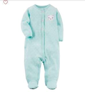 🚚 *3M* Brand New Carter's Kitty Sleep And Play For Baby Girl