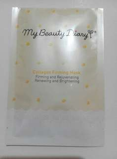 NEW MY BEAUTY DIARY COLLAGEN FIRMING & BLACK PEARL SHEET MASK