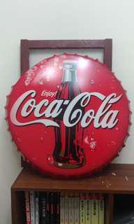 售  60公分可口可樂瓶蓋鐵牌