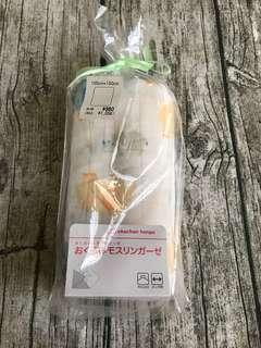 🚚 日本阿卡將 嬰兒大紗布巾 大象圖案 100*100cm