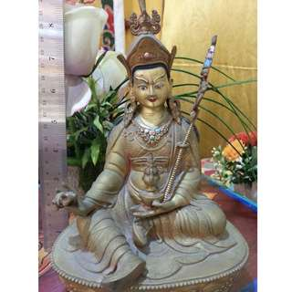 🚚 Old antique Statue of Guru Padmasambhava Rinpoche  - 8 Inch