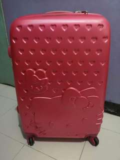 Pink hello kitty luggage