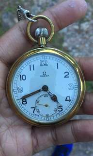 Authentic Vintage Omega WW2 Pocket Watch