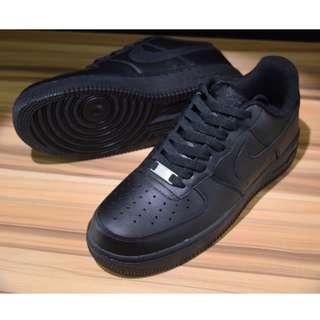Nike耐克空軍壹號男鞋Air Force 1全黑 36-45