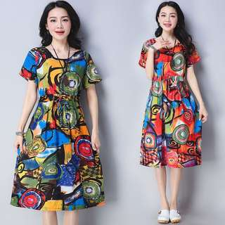 Free Shipping Promotion-15-25 Days Shipping Time for Women Dress Cotton Linen dress