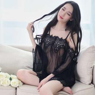 *FREE SHIPPING*READY STOCK* Sexy Lingerie Sleepwear Nightwear Off-Shoulder Dress