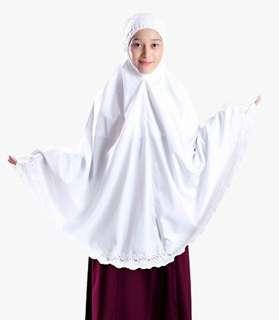 Telekung Siti Khadijah Basic Midi (White) (Top Only)  For Umrah $ Haji