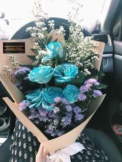 Buket bunga asli