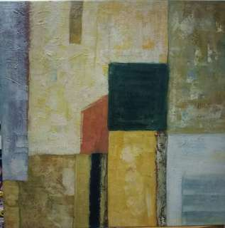 Oil Abstract on Canvas 97cm X 97cm