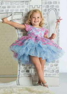 Pink blue Balloon baby dress gown