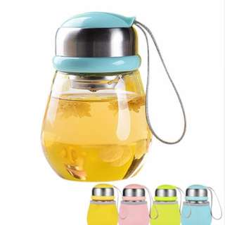 My penguin cup with creative water bottle fashion high silica glass cup water bulb bottle
