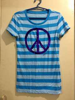 Aeropostale Blue-stripes (peace sign)