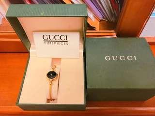 🚚 金色Gucci 古董手環錶