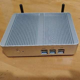 電腦Mini-pc Intel N3160+128gb SSD 文書機 即買即用!