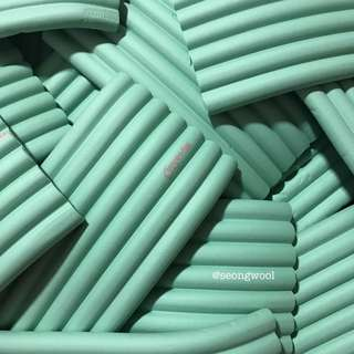mint foam chunks stripes