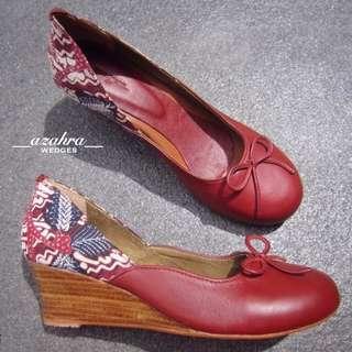 Sepatu batik + kulit sapi