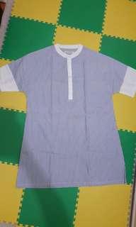 cottonink stripes loose dress