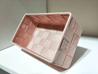 🚚 💰🎈#CarouPay GSS SALE!! PASTEL SWEET BABY-PINK STORAGE BOX FOR MAKEUP,  TOILETRIES, STATIONERIES ETC!! SUPER KAWAII COLOUR,  VERY PRETTY!! ONLY 1!! HURRY!! GRAB BEFORE ITS GONE!! 19CM X 10.5CM X 7CM