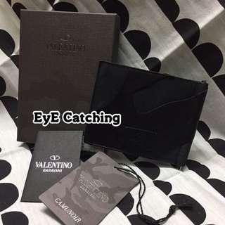 Valentino Black Money Clip Wallet