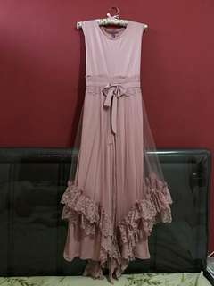 Gamis Ruffles Dusty pink