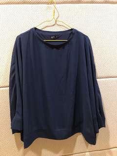 🚚 全新 NET 水袖款深藍色上衣