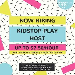 Kids Stop Play Host