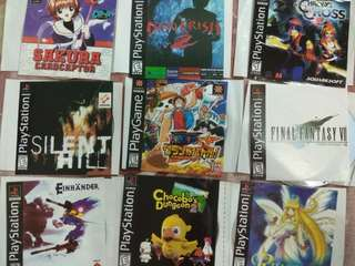 CD Game PS1. Take all 31 jenis game Rp 200.000