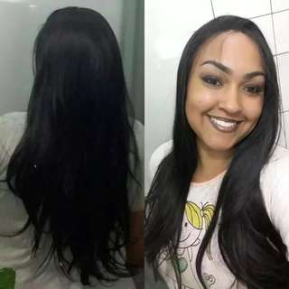 Natural Wave Type Heat Resistant Hair Black Color Natural Hairline Women Daily Makeup Synthetic Lace Front Wigs
