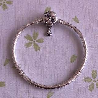 Authentic Pandora Wildflower Meadow Clasp Bracelet 17cm