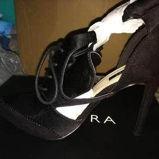 Zalora Black Lace Up Heel