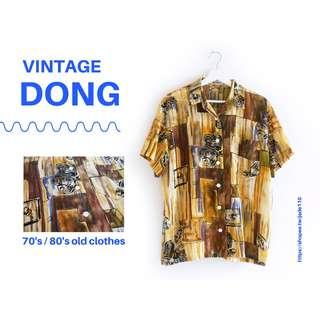 🚚 | 咚 咚 Vintage |日本古著-噬夢壁嶼短袖襯衫