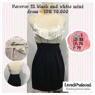 Forever 21 black & white mini dress