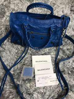 Balenciaga Small City in Bleu Lazuli